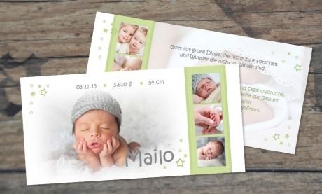 Danksagungskarte zur Geburt, Kronprinz