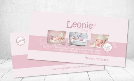"Danksagungskarten Geburt, ""Prinzessin"""