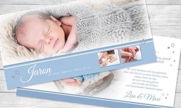 """Danksagungskarte zur Geburt """"Gelassenheit"""""""
