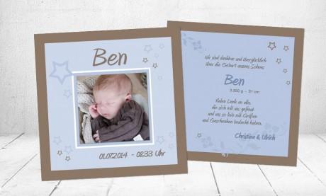 "Babykarte, Danksagung Geburt ""Zauberstern"""
