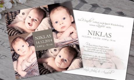 """Babykarte, Danksagung Geburt """"Unser Wunder"""""""