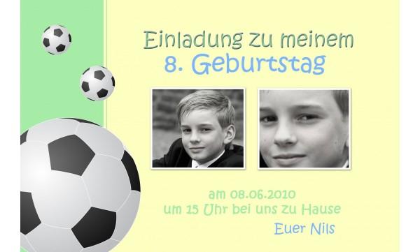 Einladung Kindergeburtstag Fussball Fotokarte 10x15 Cm