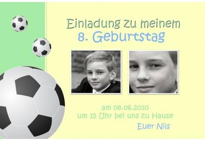 Fussballeinladung Kindergeburtstag Einladung Fussball