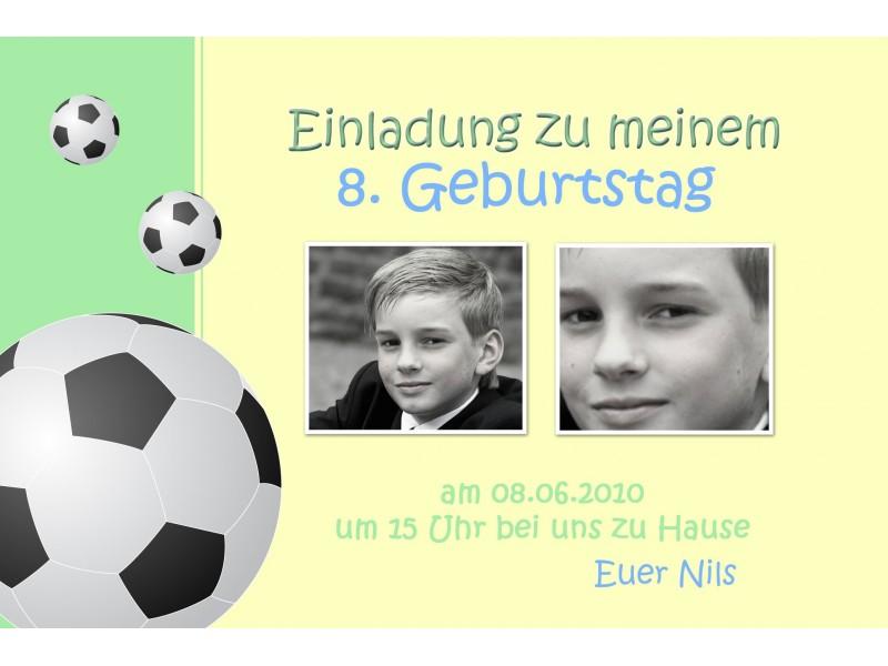 fußballeinladung kindergeburtstag, einladung, fußball, Einladung