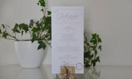 Menükarte Hochzeit Din Lang