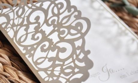Lasercut Danksagungskarten Hochzeit