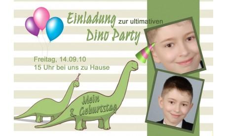 """Einladung Kindergeburtstag """"Dino"""", Fotokarte 10x15 cm"""