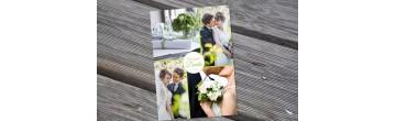 """Dankeskarte Hochzeit, """"Liebesglück"""" grün"""