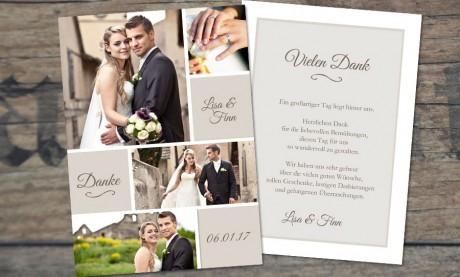 Danksagungskarten Hochzeit Vintage Traum