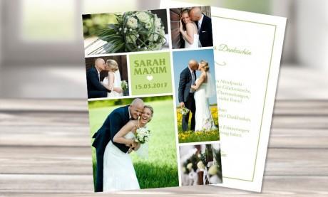 """Danksagungskarten Hochzeit """"Flieder"""""""