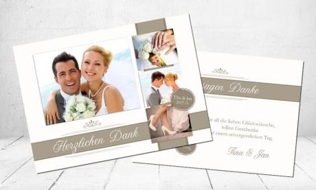 """Danksagungskarte, Karte Hochzeit, """"Vintage Zauber"""""""