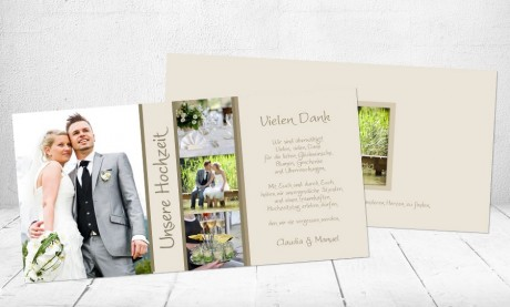 Danksagungskarte, Karte Hochzeit, Sternenhimmel