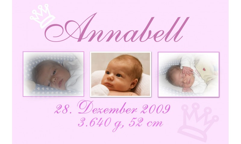 "Geburtsanzeige ""Prinzessin"", Karte Geburt, 10x15 cm, rosa"