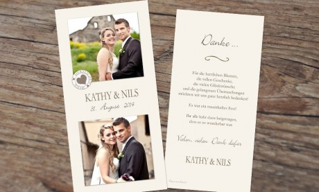 "Danksagungskarte, Karte Hochzeit, ""Shabby Stil"""