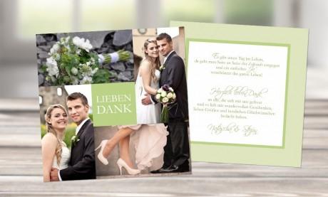 """Danksagungskarte Hochzeit, Karte Hochzeit """"Verführung"""""""