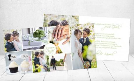 """Danksagungskarte Hochzeit """"Herzliches Dankeschön"""""""