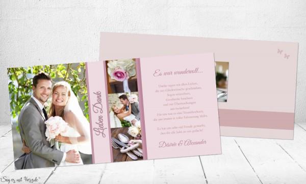 Danksagungs-Karten Hochzeit
