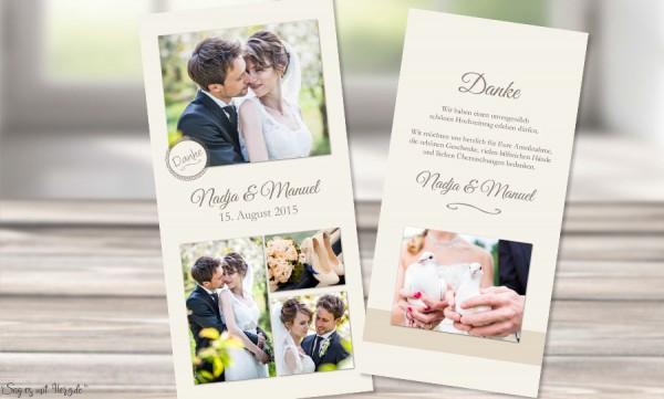 Danksagungskarte-Hochzeit