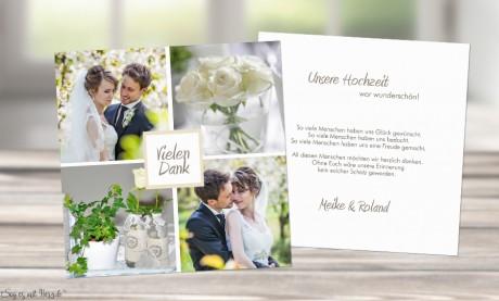 Danksagung-Hochzeit