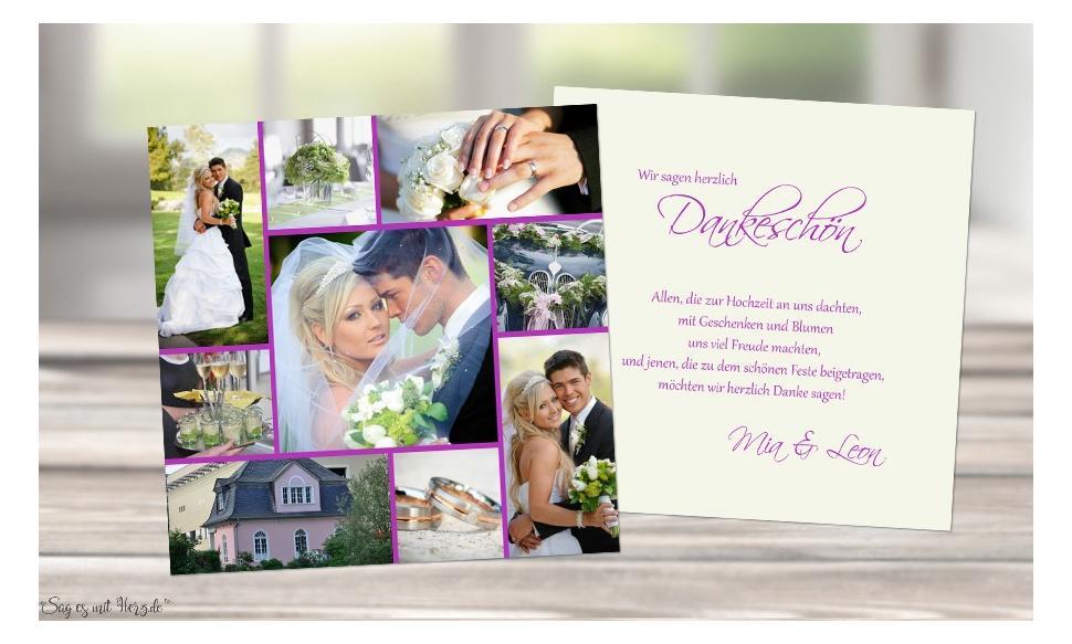 Danksagung Hochzeit