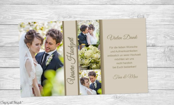 Fotokarten Hochzeit
