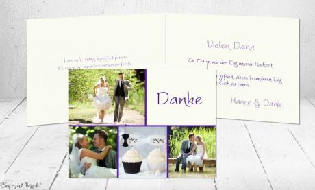 Dankeskarte Hochzeit Klappkarte
