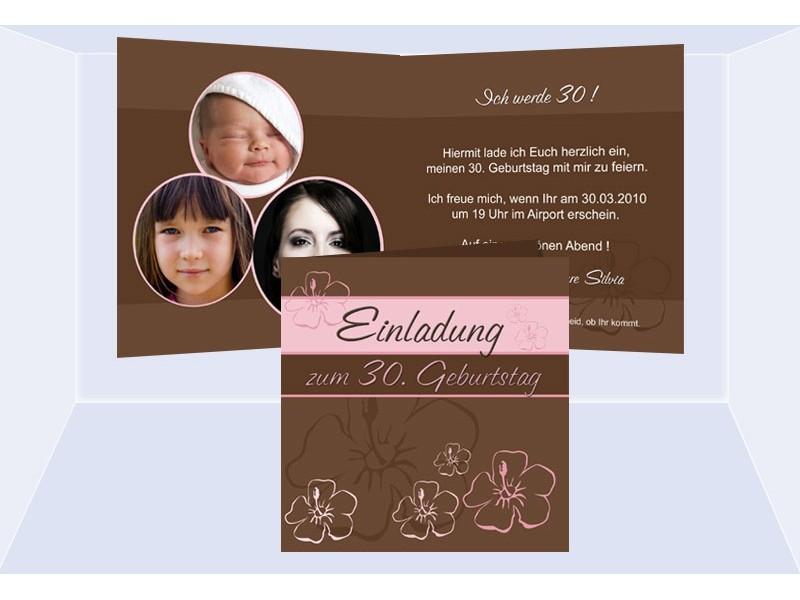 einladung geburtstag 30, 40, 50, 60 klappkarte, Einladung