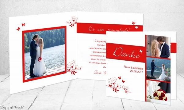 Fotokarte Hochzeit Klappkarte
