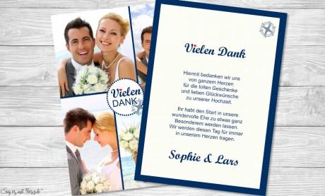 Dankeskarte Hochzeit