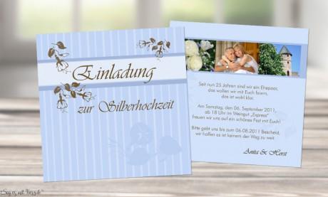 Einladungskarte Hochzeit quadratisch