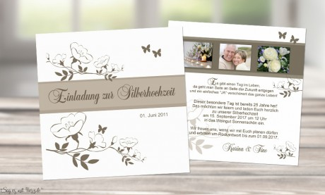 Karte Hochzeit.Karte Goldene Hochzeit Silberhochzeit Einladungskarte Quadrat