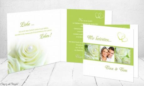Einladungskarte Hochzeit quadratish