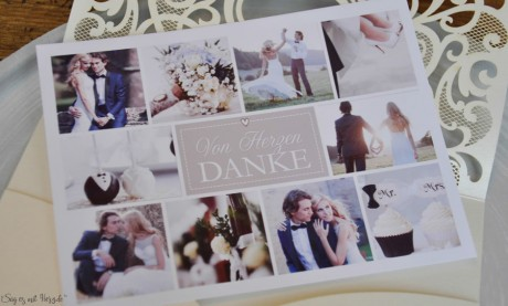 Danksagungskarte Hochzeit Vintage Diy