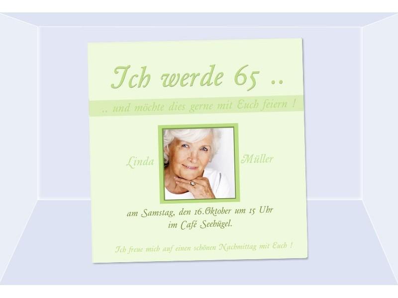 Charming Einladungen Zum 65 Geburtstag #5: SagesmitHerz.de