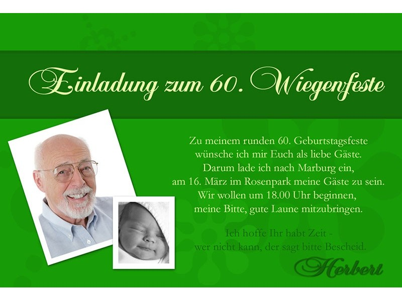 ... einen lustigen Einladungstext für 60. Geburtstag | Sonstiges