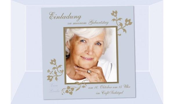 Einladung Geburtstag, Fotokarte 12,5x12,5 cm