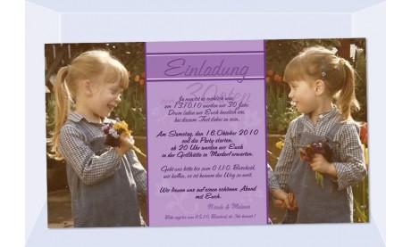 Einladung 30. Geburtstag, Fotokarte 10x18 cm, lila
