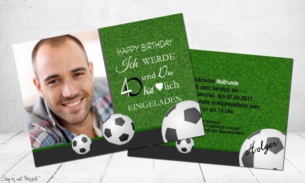 Einladungskarte 40 Geburtstag Fussball