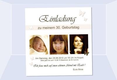 Einladung Zum 30 Geburtstag Milchzähne Individuelle Einladung 1 95 ...