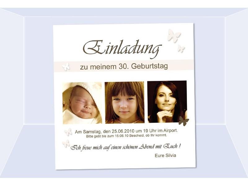 Einladung 30. Geburtstag, Fotokarte, Einladungskarten