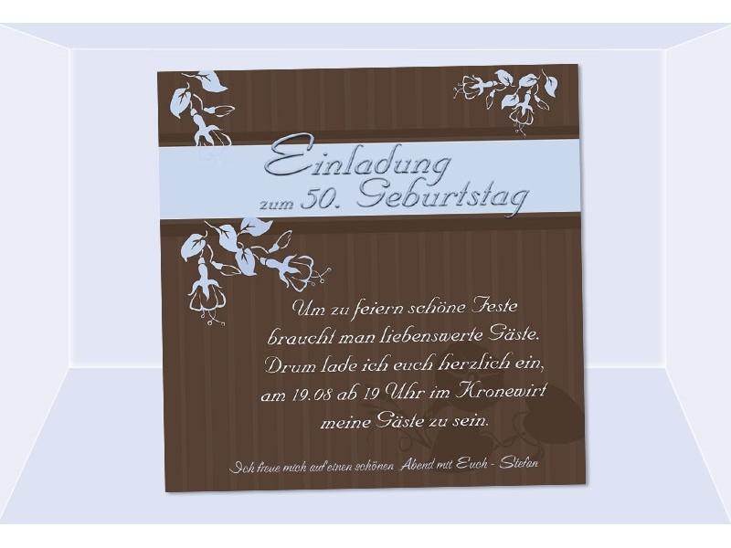 Einladung 50. Geburtstag, Fotokarte, Einladungskarten, Grün, Kreative  Einladungen