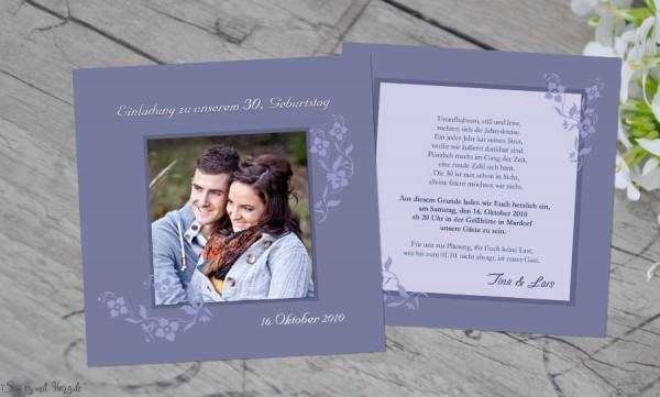 Einladungskarte Geburtstag quadratisch