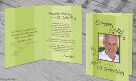 Einladungskarte Geburtstag Klappkarten