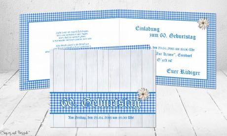 Einladungskarte Geburtstag Klappkarte