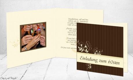 Einladungskarte Geburtstag Klappkarte quadratisch