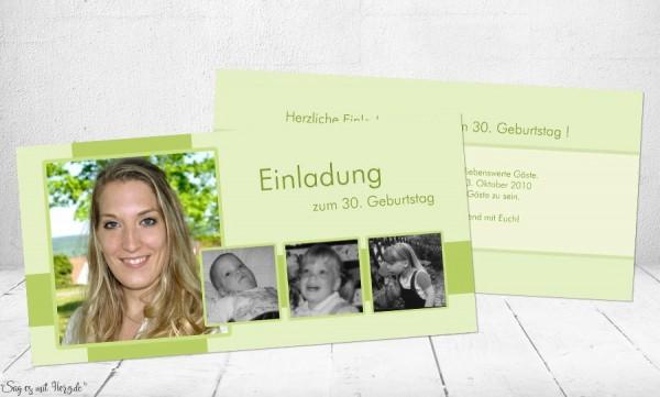 Einladungskarten Geburtstag mit Foto