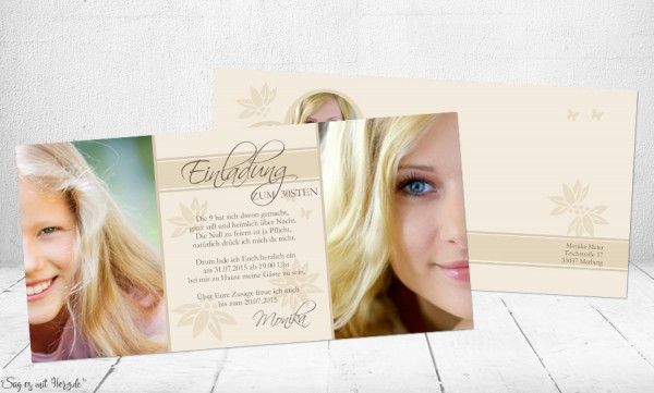 Einladungskarte Geburtstag mit Foto