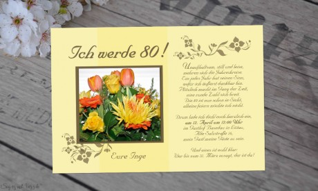 Einladung Geburtstag Fotokarte