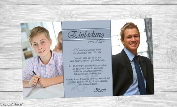 Einladung Geburtstag Fotokarten
