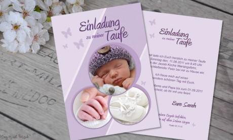 Einladungskarten Taufe Postkarte